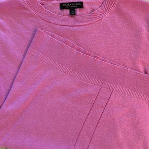 BR silk-cashmere light weight sweater